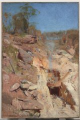 Arthur Streeton's Fire's on, from 1891, was one of the works shown in Venice in 1958.