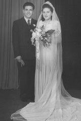Holocaust survivors Yvonne and John Engelman on their wedding day.