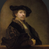 Even Rembrandt, shown in his 'Self Portrait at the Age of 34', can teach us a new word.