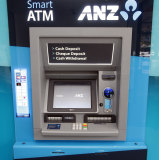 The would-be thieves targeted an ANZ ATM located on the outside wall of the shopping centre.