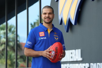 Sam Petrevski-Seton has arrived at the West Coast Eagles after his trade from Carlton.