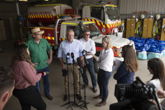 Prime Minister Scott Morrison toured bushfire affected regions of the Blue Mountains on December 23.
