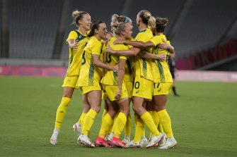 The Matildas will take on Great Britain in the quarter-finals.