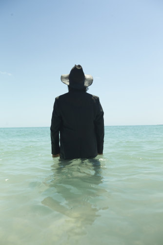 Warwick Thornton during the month-long filming of The Beach in Western Australia's Dampier Peninsula.
