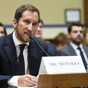 Juul co-founder James Monsees testifies before a House Oversight and Government Reform subcommittee in Washington in July.