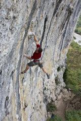 Climbing in Yangshuo, China.