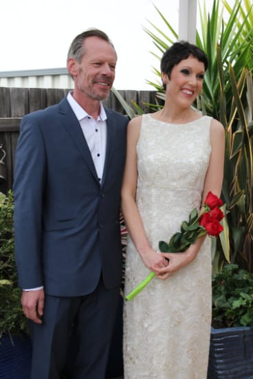 John de Ridder and Tanya Gendle on their wedding day in September, 2015.