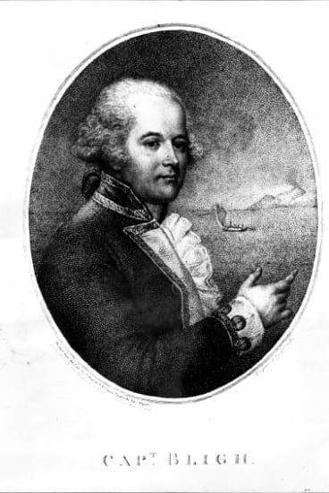 A portrait of Captain William Bligh.