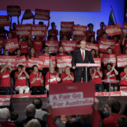Rallies on the rise as US political imagery finds favour in Australia