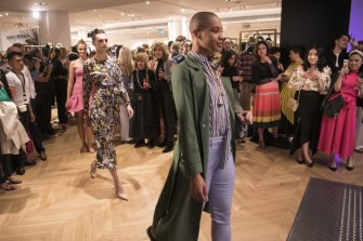 "The ""roving"" fashion parades at David Jones launch on Wednesday night."