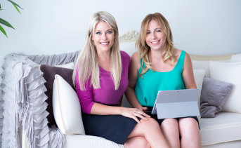 Gemma Lloyd (left) and Valeria Ignatieva are co-founders of DCC Jobs, which helps women find employment.