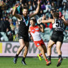 Port smash Swans to overtake Crows in top-eight pecking order