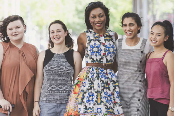 The Canberra Women's March will be taking to the streets this Sunday. Here are some of the locals who are marching to fight gender inequality. From left, Clare Moore, Ashleigh Streeter-Jones, Nina Gbor, Tanvi Nangrani, and Gemanuelle Magpantay.