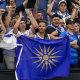 Tennis fans get behind Greece's Maria Sakkari on Wednesday.