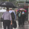 Weather bureau watches trough to see where most rain will fall
