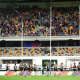 The Saints thanks fans at the Gabba after their win over the Swans.