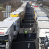 Traffic jams 60km long as desperate travellers choke Europe's borders