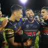 Kikau back from the brink as Panthers upset Roosters in flying start