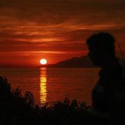 A sunset on a Dardanelles beach made Nick Miller homesick for Western Australia.