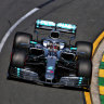 Hamilton sets the pace in first F1 practice session