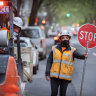 Police patrol CBD as construction sites get back to work