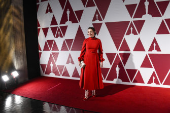 Olivia Colman at the Oscars event in London.