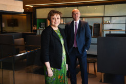 Boral chairman Kathryn Fagg and chief executive Zlatko Todorcevski.