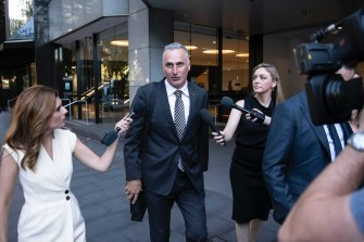 Drummoyne MP John Sidoti leaving ICAC last week.
