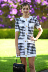 Ms Waterhouse donned a tweed Balmain dress on Day 1 of  The Championships.