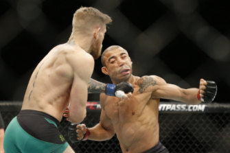 Conor McGregor's famous left hook that put long-time champion Jose Aldo's career in jeopardy.