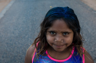 Arihanna Kelly at Little Sister Town Camp outside Alice Springs.
