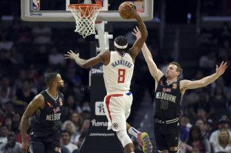 Melbourne United unable to slow Clippers in NBA pre-season showdown