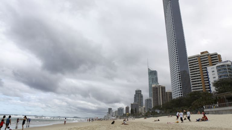 The severe storm hit the Gold Coast and Scenic Rim, but was expected to fall short of Brisbane.