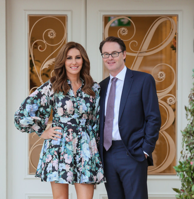Andrea Moss and Dr Chris Moss, co-founders of Melbourne's Liberty Belle Skin Centre, whose skincare range launched in David Jones today.