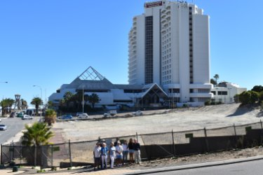 The vacant block on the corner of West Coast Highway and Scarborough Beach Road.