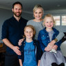 Alison Deboo, husband Matthew and their two kids Ottilie, 6, and Zachary, 10.