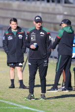 Wayne Bennett at Souths training on Saturday.