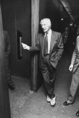 Gianni Agnelli, the late boss  of Italian vehicle manufacturer  Fiat, in 1983.