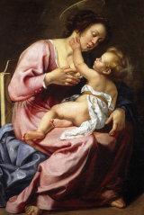 Madonna nursing the Child by Artemisia Gentileschi