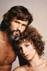"""""""I had final cut"""": Streisand and Kris Kristofferson on the set of 'A Star is Born'."""