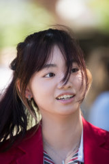 Beatrice Chen, an international student at Auburn High School, sat her EAL exam.