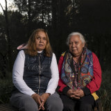 Jenny Thomsen (right) has found support through the NSW/ACT Stolen Generations Council, of which June Christian is program coordinator.