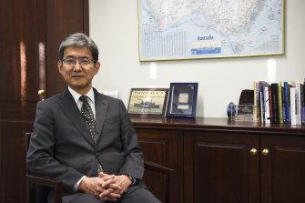 Japanese consul-general in Perth Toru Suzuki in his office at the consulate.
