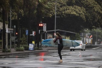 Wild weather in Manly.