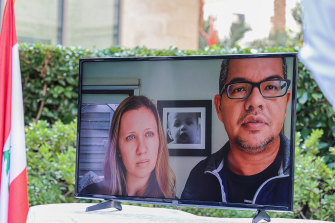 Isaac's parents Sarah Copland and Craig Oehlers sent a video message to the memorial.