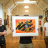 Artists bring works from the street inside to raise money for bushfire relief