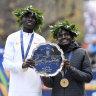 Kenyan Joyciline Jepkosgei wins New York City Marathon title on debut