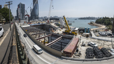 The metro station at Barangaroo is one of many public projects that will bolster land values in the surrounding area.