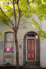 Anthony Lister's Darlinghurst property, which was raided on Tuesday.