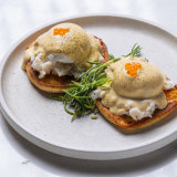 Higher Ground's spanner crab poached eggs.